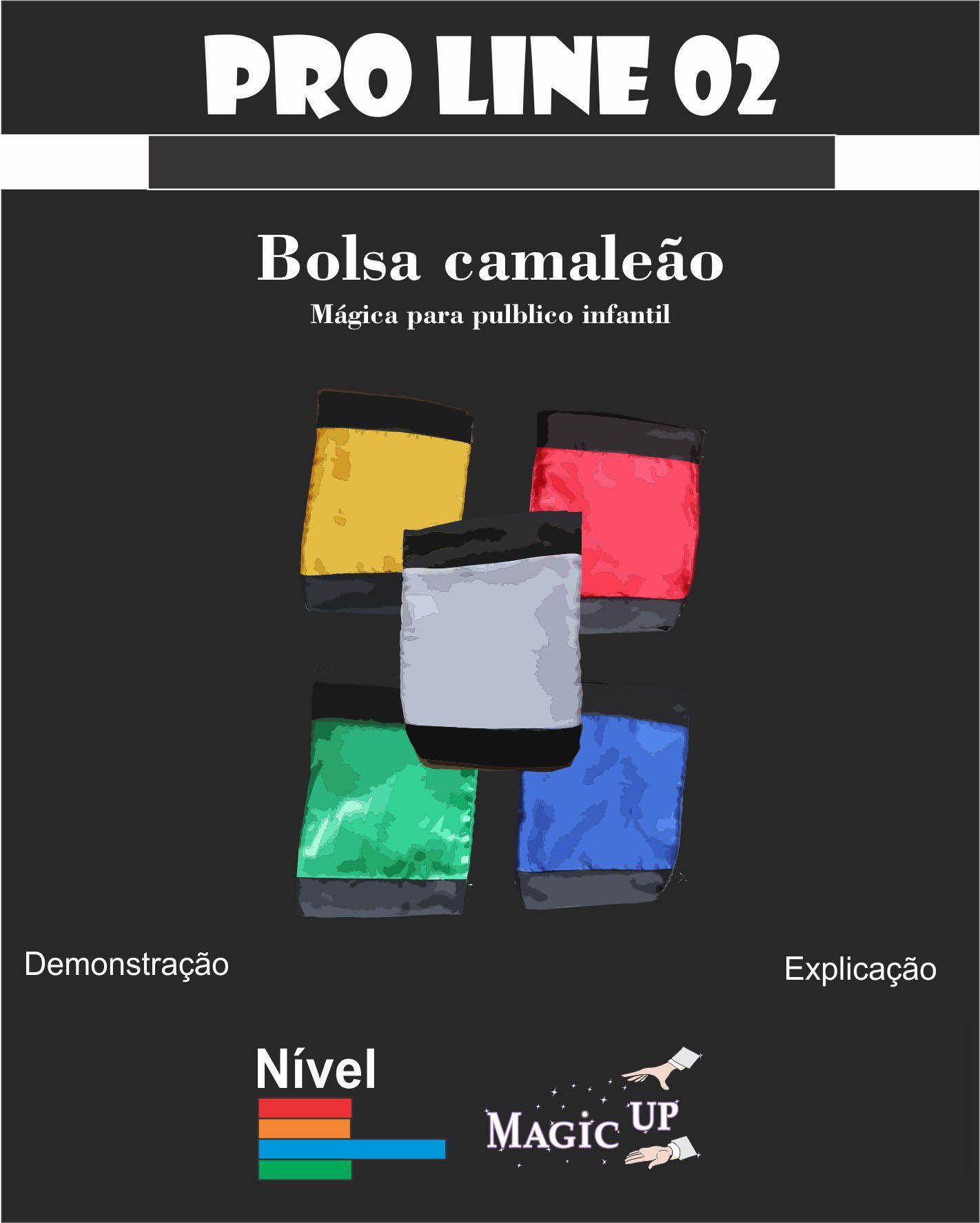 Bolsa Camaleão Coleção Magica profissional n 02 - Magic Proline R+