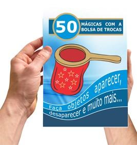 Bolsa De Troca Com Zip + Livro com 50 Mágicas - Change Bang - Coleção Magica profissional n 10 - Magic Proline  B+