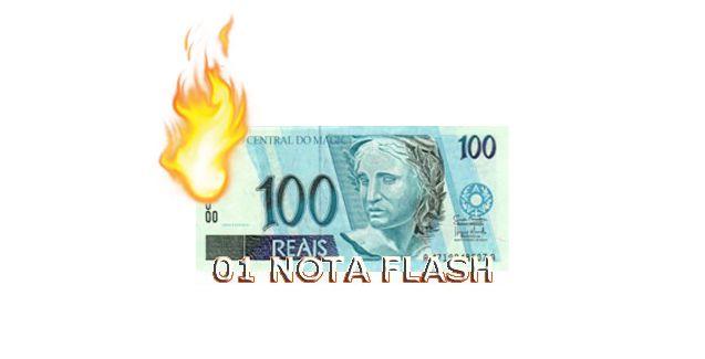 Burning Money - (Nota Flash) 100 Reais. F+