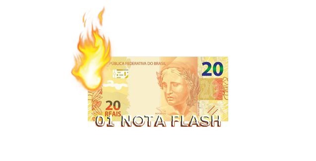 Burning Money - (Nota Flash) 20 Reais. F+