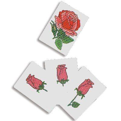 Carta do Botão em Rosa D+