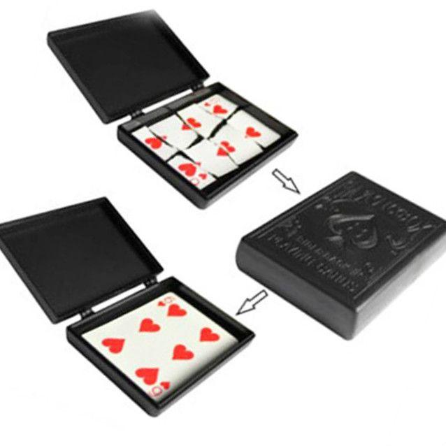 Carta rasgada e restaurada, magica  Card Box magnético com  baralho poker ? 25 Mágicas R+