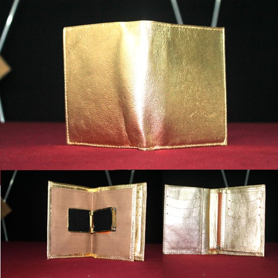 Carteira Fogo Kaps Cor Dourada + Dvd M+