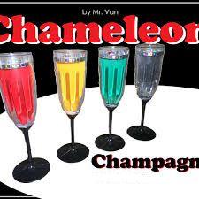 Chameleon Champanhe , Magica da taca de champagne que muda de cor by Van B+