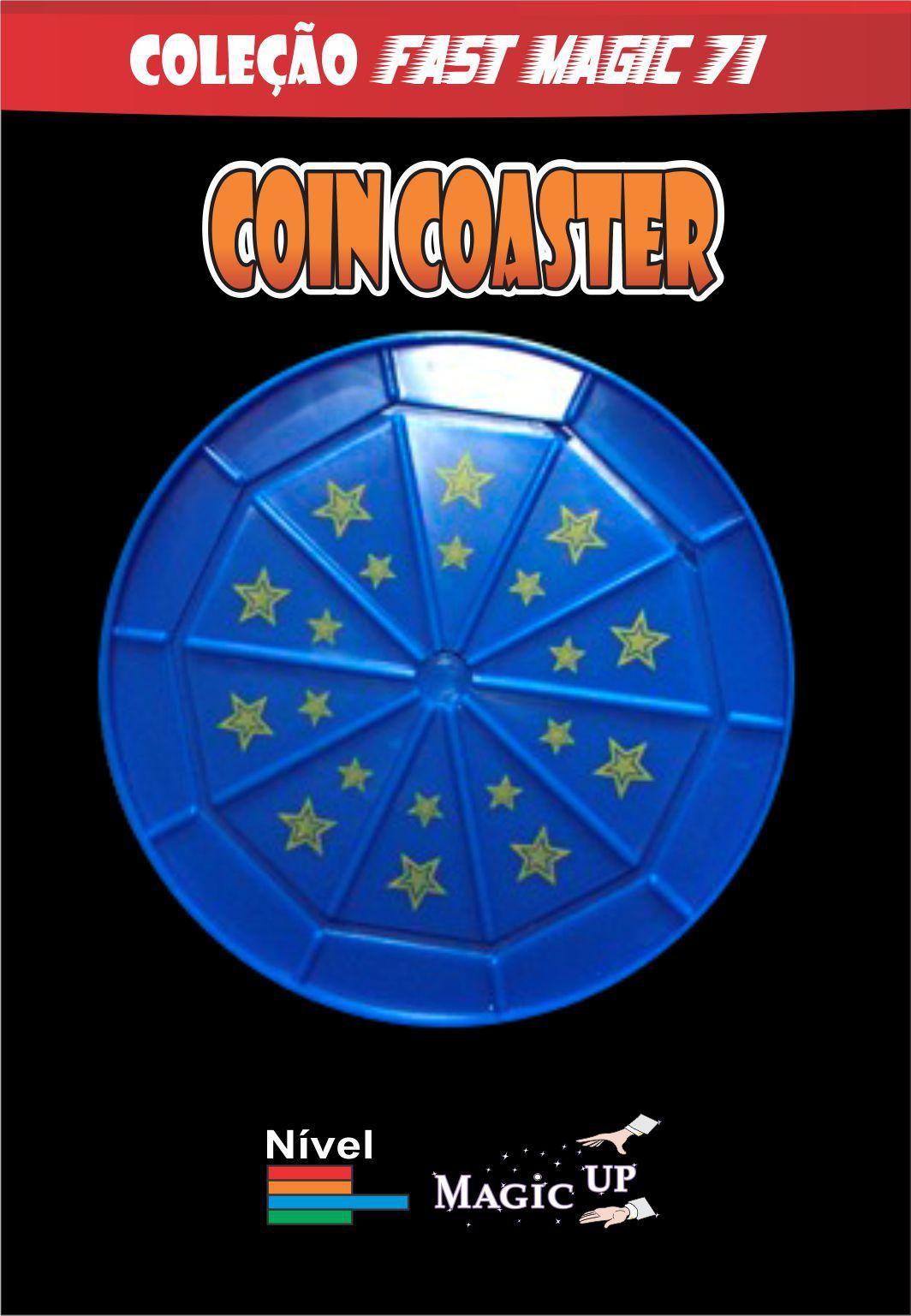 Magica da moeda que  atravessa o copo Coin coaster -  Coleção Fast Magic N 61 R+