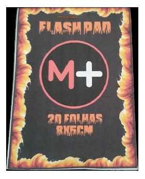 FLASH PAD - caderno papel flash c/ 20 folhas thick ou thin