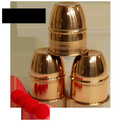 Cups & Balls Copper brass - Covilhetes Americanos em latão marca VDF D+