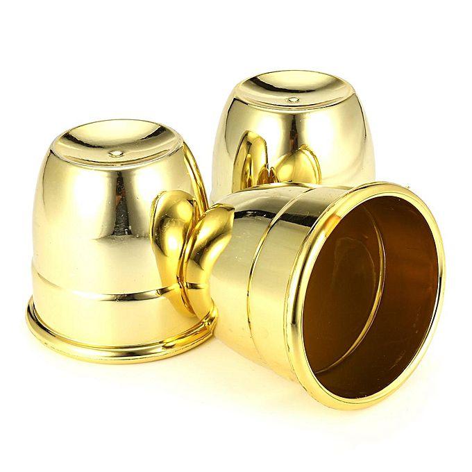Covilhetes americanos grande  - Cups and Balls Plastico Dourado - Jumbo R+