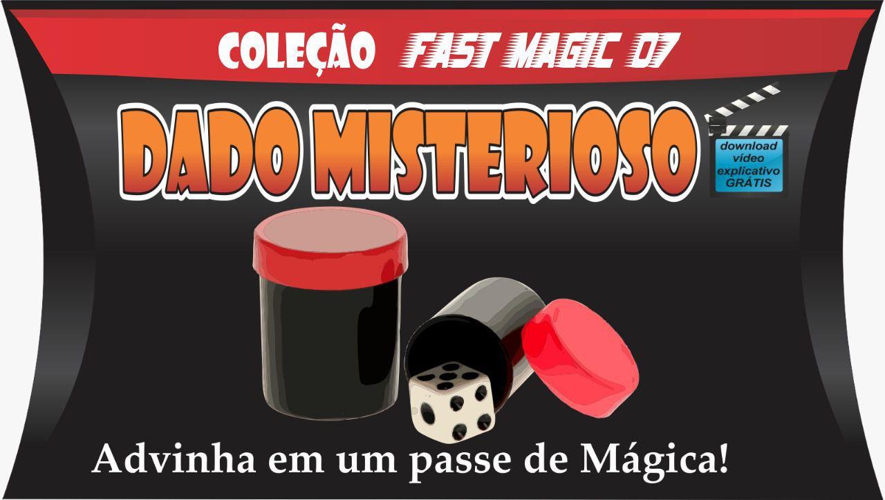 Dado Misterioso XL Jumbo  5x3,5 cm  - Coleção Fast Magic N 07 R+