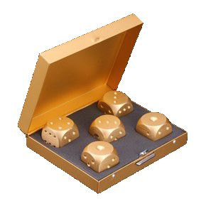 Dados  Dourados - Gold Dice D+