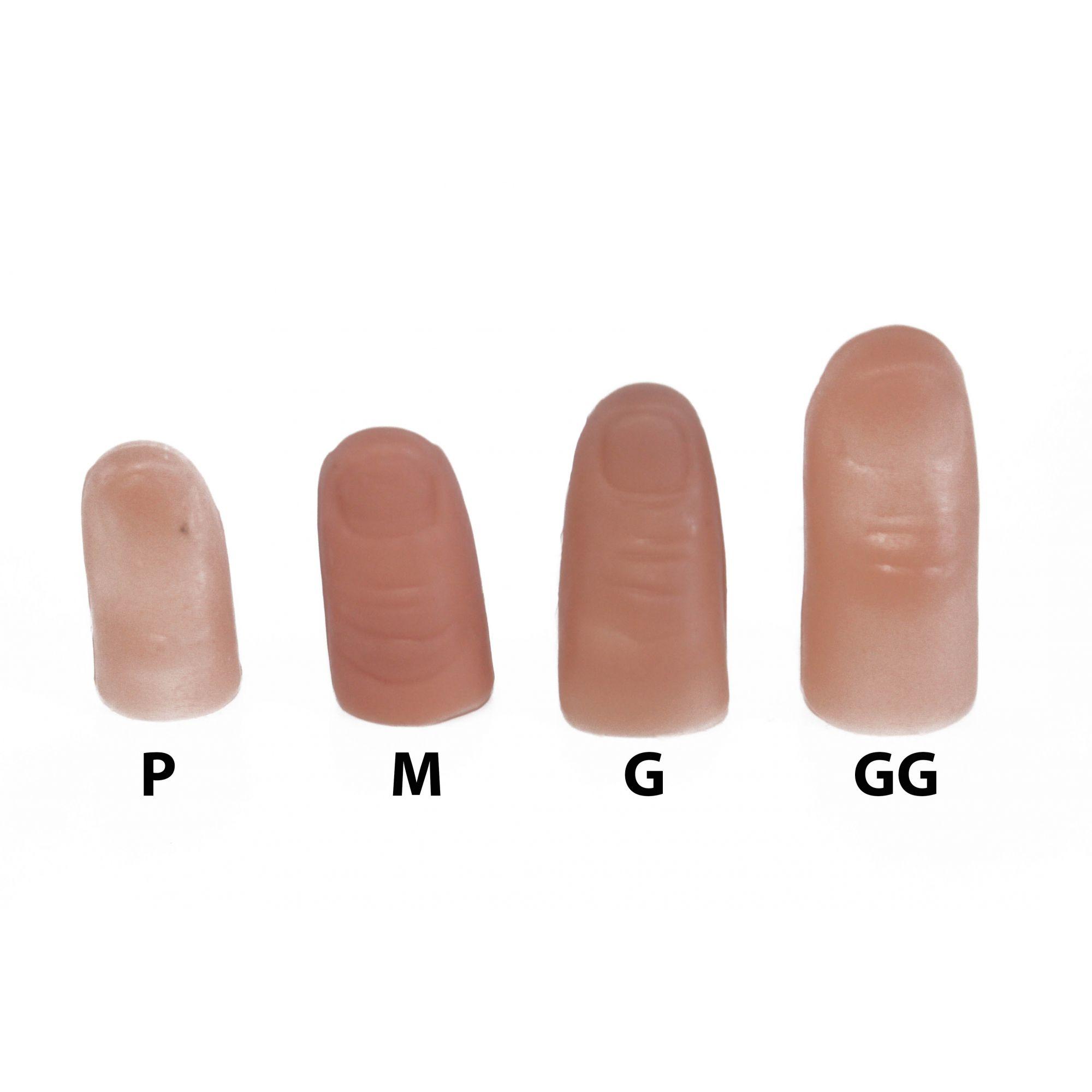 Dedeira Tamanho P, falso polegar pequeno Thumb Tip - Tamanho Infantil R+