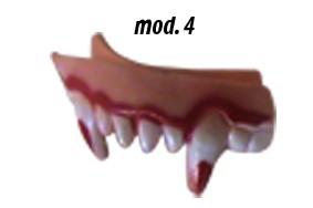 Dentadura Látex Monstro Mod 4 D+