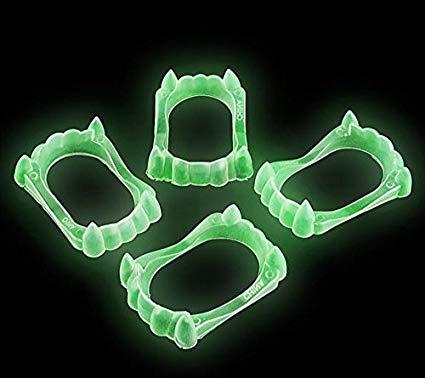 Dente Do Vampiro Brilha No Escuro fosforescente - Flow fangs B+