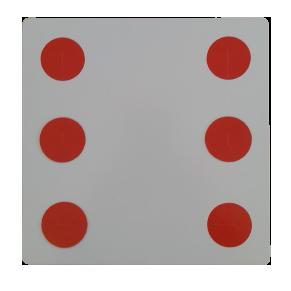 dado dinamite papelão, dado da ilusão vermelho B+