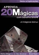 Dvd - 20 Mágicas Com Baralho Bisotê M+