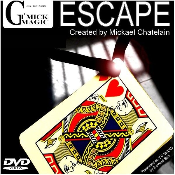 Escape By Mickael Chatelain - Baralho Bicycle Gimmick + Dvd