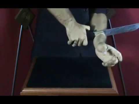 FACA NO BRAÇO - LÂMINA 24cm x 3,5cm