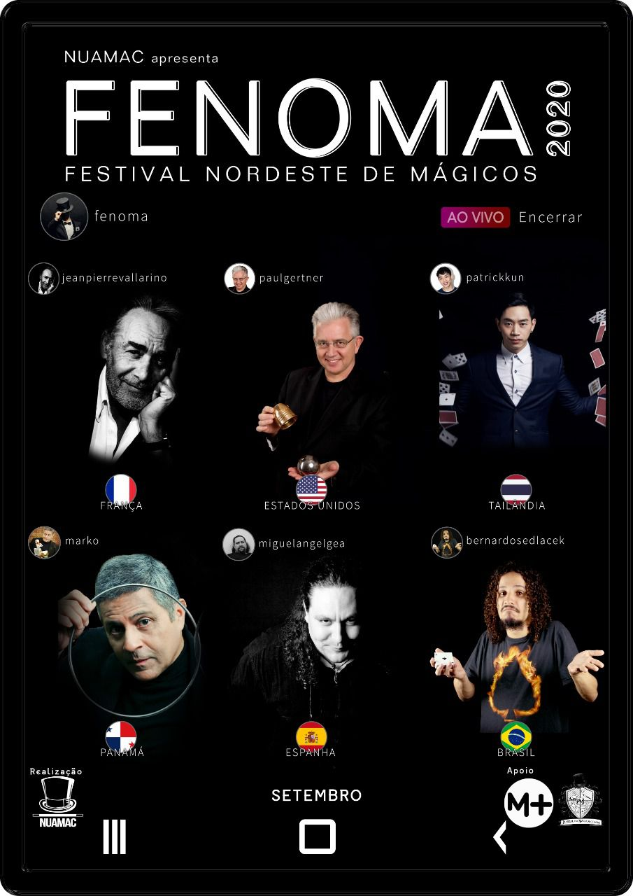 Fenoma XVII - Congresso on-line - 11,12,13 Setembro  2020