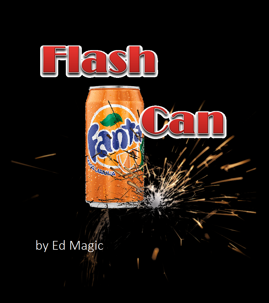Flash Can By Ed Magic- aparição flash da caneta de coca cola ou fanta -  B+