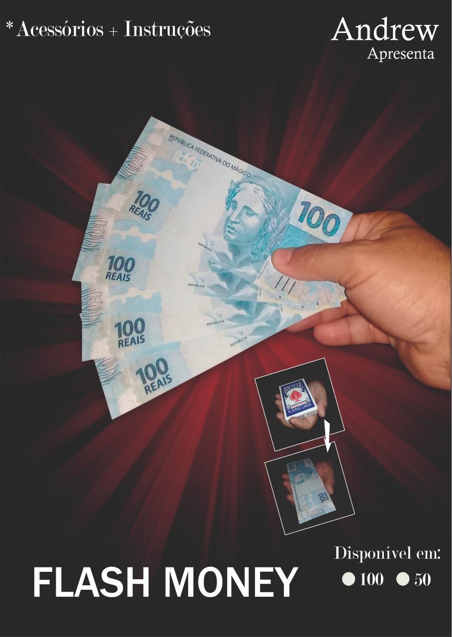 Flash Money by Andrew - baralho se transforma em notas b+
