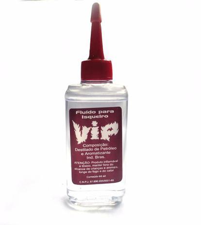 Fluido para isqueiro marca Vip, Flux ou  Chama