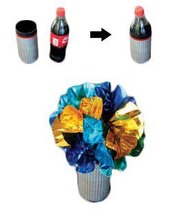 Garrafa Coca-Cola Em Flor E Confetes M+