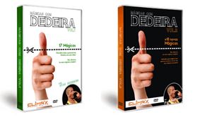 Kit Dvd Dedeira Vol 1 e 2 (35 mágicas) + Gimmick Fp (dedeira)
