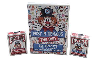 Kit Fast N Genious + 2 Baralhos + Dvd B+