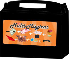 Kit de magicas Multi-Mágicas Magic Up- 6 acessórios - a partir de 8 anos R+