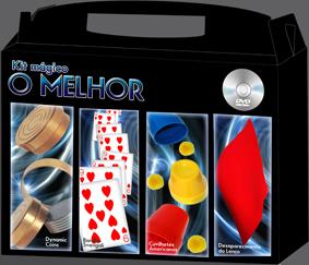 Kit de magica  'o Melhor'  - Fabricante Magic Up - 4 acessórios de magicas