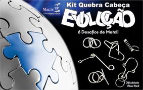 KIT QUEBRA CABEÇA EVOLUÇÃO (06 peças)