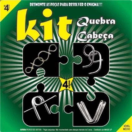Kit Com 4 Quebra Cabeça J+