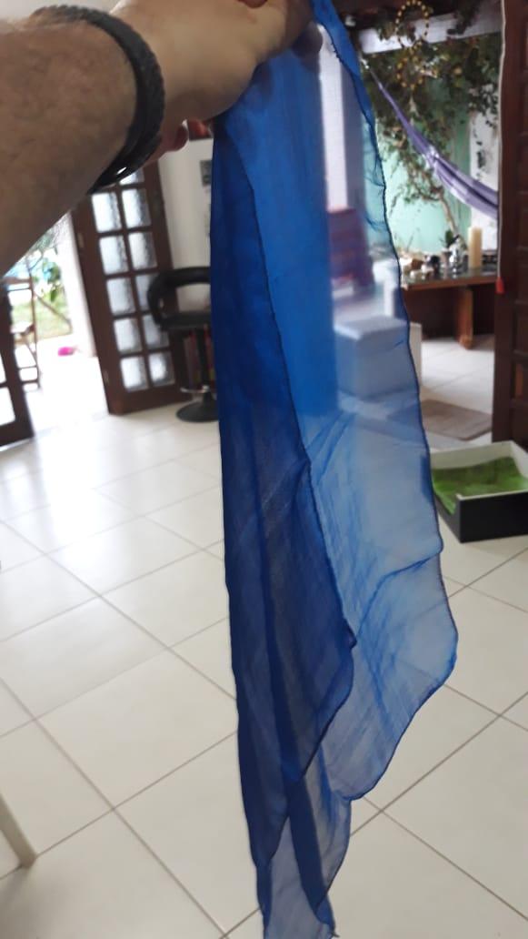 LENÇO DE SEDINHA 44 cm - ESCOLHE A SUA COR