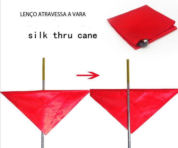Lenço Seda Atravessa A Vara - Silk Thru Cane proline 8 R+