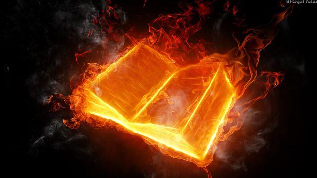 Livro em Fogo - bíblia- livro em chama - Hot Book  -Coleção Magica profissional n 07  - Magic Proline B+ up