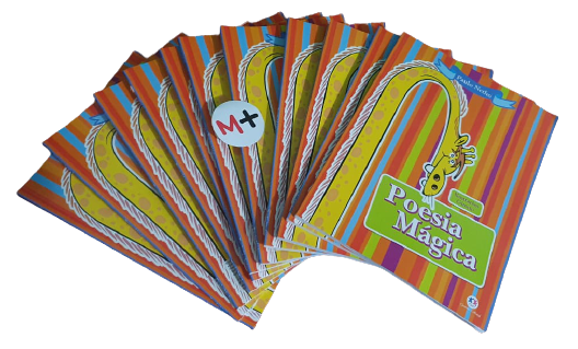 Livro poesia magica - livro educacional Paulo Netho - coloring book B+