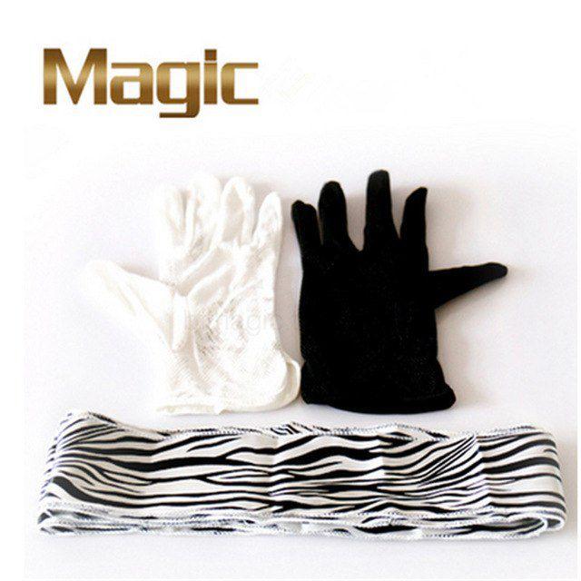 Luvas Em Streamer Zebra - Black And White Gloves To Zebra Streamer R+