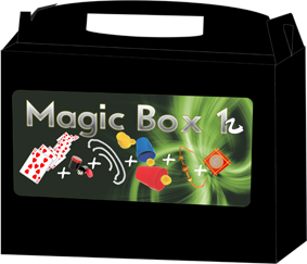 Kit de magicas Magic Box 1 - a partir de 6 anos - com moeda houdini  (mod 2)  R+