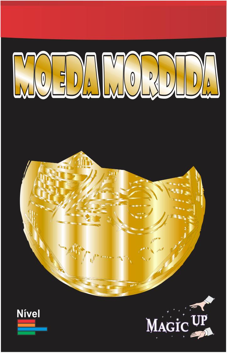 Moeda Mordida 0,25 centavos dourado - Coleção Fast Magic N°51 B+