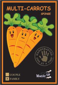 4 Cenouras sem fim -0 2 Grande e 2 Peq - Multi Carrots Family  (Cenoura de Espuma )  R+