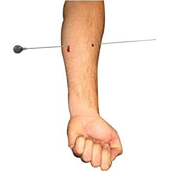 Needle Thru Arm + Sangue + Rubber Cemment - Agulha no braco