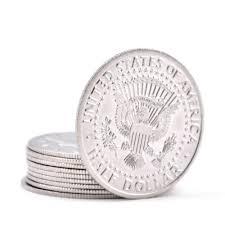 Palming coins x 5 - Moeda para empalmagem Half Dollar B+