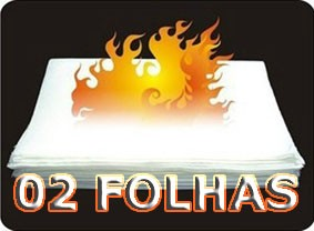 Papel Flash  fino ou grosso - 02 Folhas F+