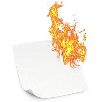 Papel Flash  (Flash Paper) Fino ou Grosso - 20 Folhas. F+