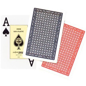PAR BARALHOS FOURNIER poker  100% plastic