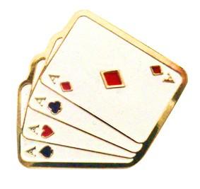 Pin Cartas Banhadas a Ouro D+