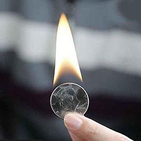 Pyris Volcanic Coin Moeda fogo half dollar B+