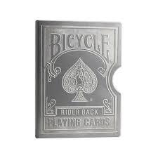 Protetor de Baralho bicycle gravado metal B+