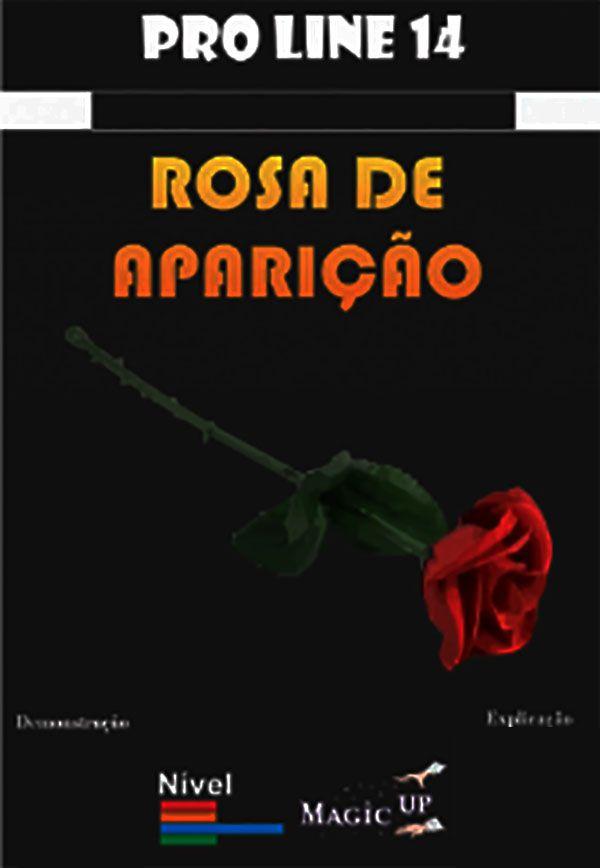 Rosa De Aparição + Lenço De 23 Cm - Coleção Magica profissional n 14 - Magic Proline B+