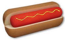 SPONGE HOT DOG JUMBO GOSHMAN ESPUMA ESPONJA - DO ITU
